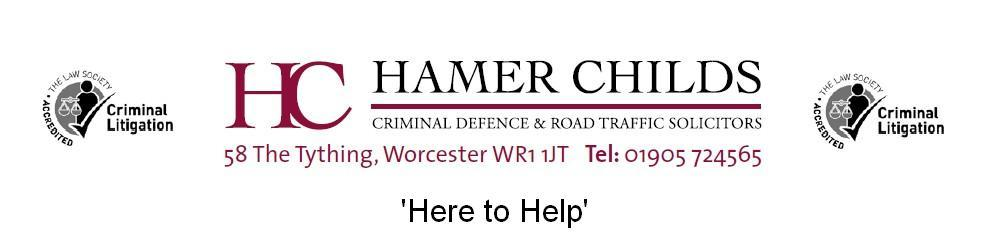 Hamer Childs - Criminal Defence & Road Traffic Solicitors - Logo
